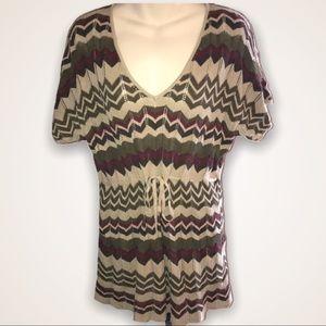 CALVIN KLEIN JEANS Linen Blend Sweater Tunic - XL